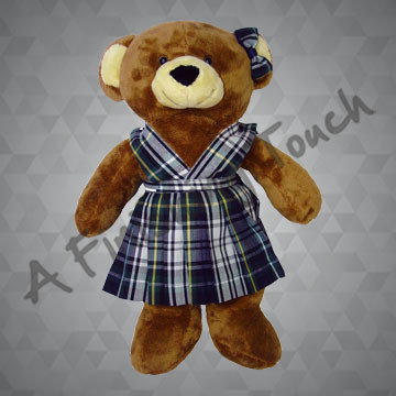 FT112- Split-Front Bear Jumper and Bow