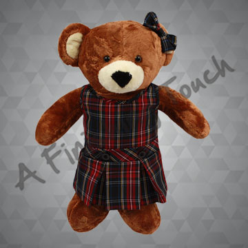 FT113- Drop-Waist Bear Jumper and Bow