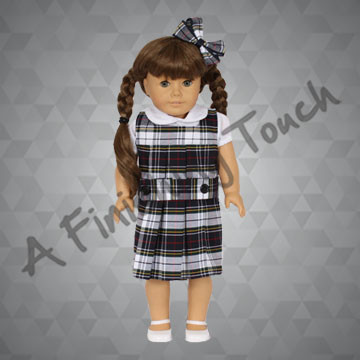 FT177- Tunic Doll Jumper, Blouse and Bow for 18 inch doll