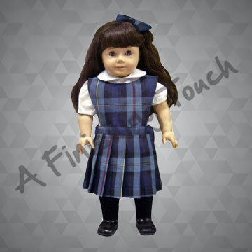 FT188- Pinafore Doll Jumper, Blouse and Bow for 18 inch doll