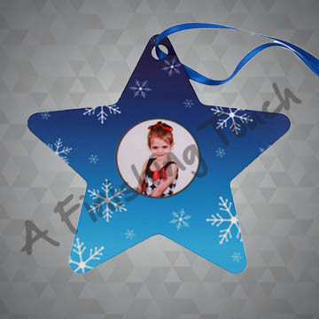 G070- Customized Star Ornament w/Photo or Logo