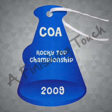 G073- Customized Megaphone Ornament w/Photo Or Logo