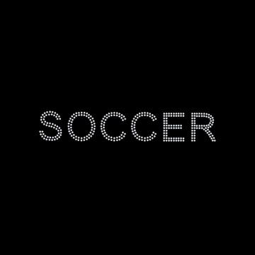 HP48- Soccer - Rhinestone