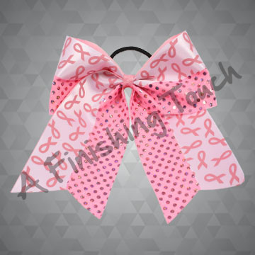 BC824- Pink Ribbon Streamer Bow