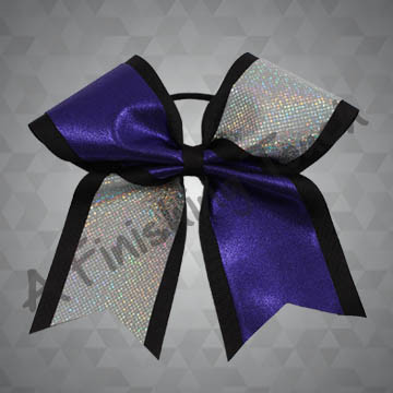 855- Two-Layer Two-Tone Basic Tailed Cheer Bow