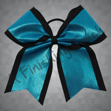 100G- Two-Layer Glitz Tailed Cheer Bow