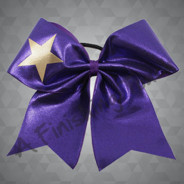 112HG- Competition Short Tailed Cheer Bow with Star