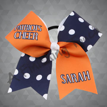 "924H- Large Mascot with ""Cheer"" / Individual Name Cheer Bow"