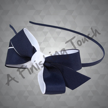 197- Two Layer, Two Tone on Medium Headband