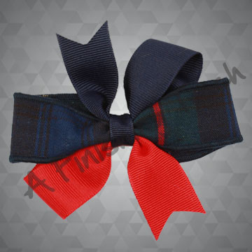187- Plaid Mix Basic Bow