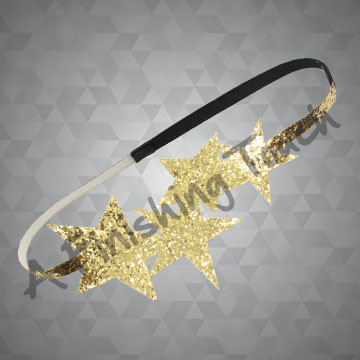 190- One Color Star Canvas Glitter Headband