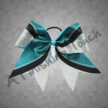 946- Tri-Color Cheer Bow with Classic Rhinestones