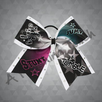 953- Jump Stunt and Tumble Bow with Classic Rhinestones