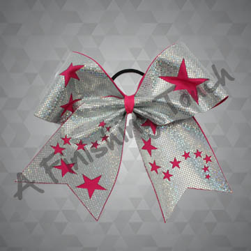 965 Cut Out Stars Cheer Bow A Finishing Touch