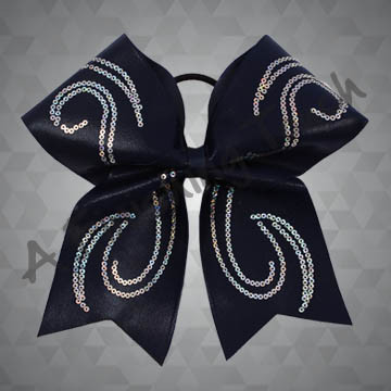 959- Swirly Sequins Cheer Bow