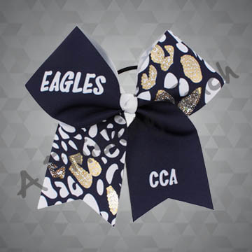 973- Leopard Sequins Cheer Bow