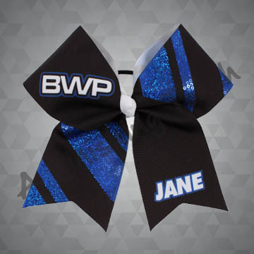 975- Bold Stripes Sequins Cheer Bow