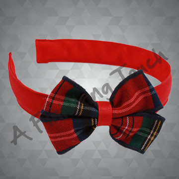 343- Flat Ribbon Headband w/Bow