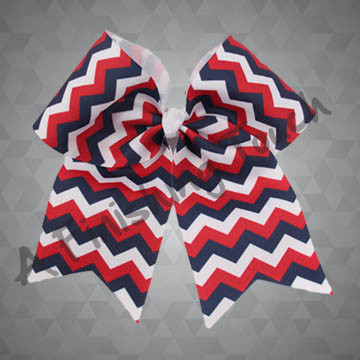 924N2- Three-Color Chevron Cheer Bow