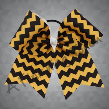1012A- Two-Color Chevron Cheer Bow