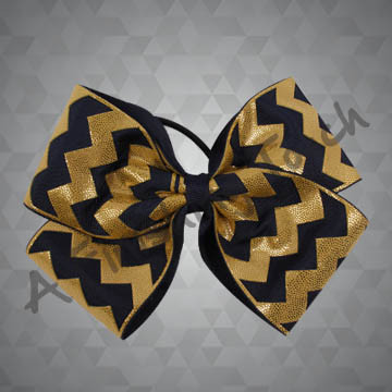 983B- Four-Loop Quad Laser Cut Chevron Cheer Bow