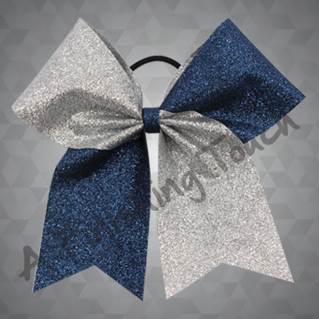 1090 - Two-Tone Glitter Bow