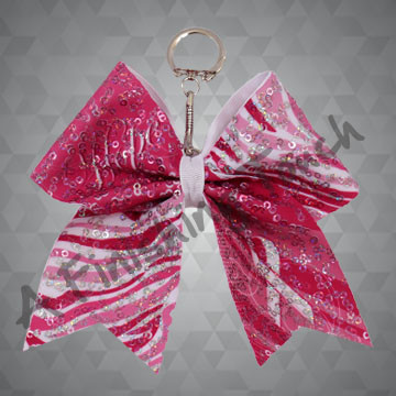 "BC133G- Keychain Bow ""Hope"" on Glitz"