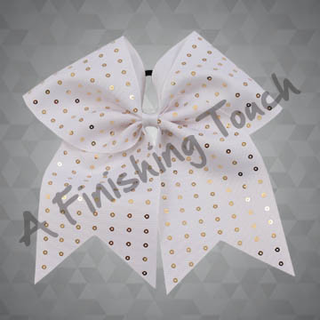 1128- One Layer Solid Bow with Sequins