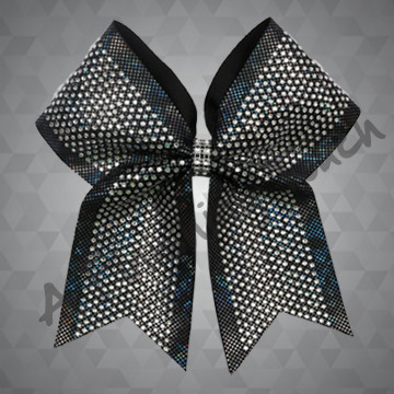 1246- Classic Rhinestone Cheer Bow with Rhinestone Mesh Wrap