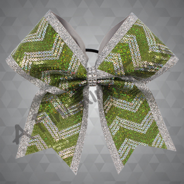 1278- Two Layer Glitter Cheer Bow with Sequin Fabric