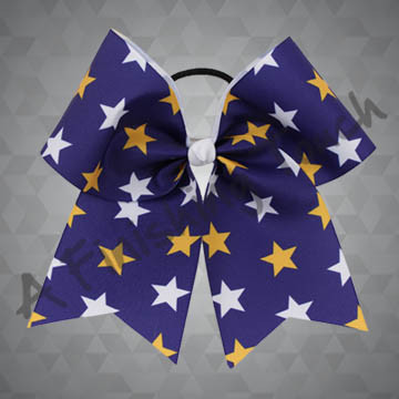 924M2D- Two orThree Color Star Cheer Bow