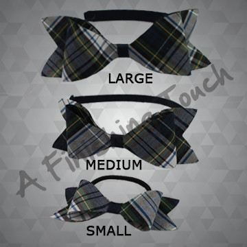 1291- Plaid Bowtie Bow