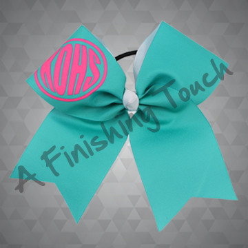 1302- Initial Monogram Cheer Bow