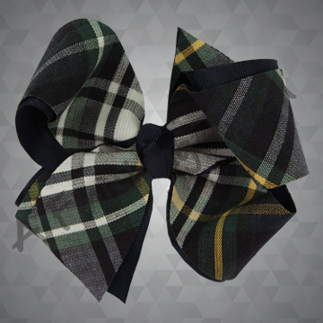 1308- Plaid Four Loop Bow