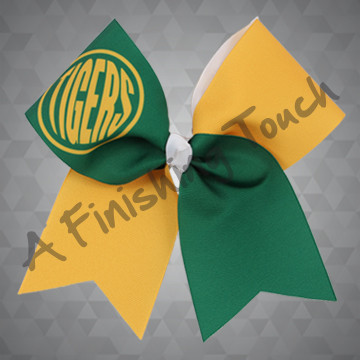 1354- Two-Tone Monogram Bow