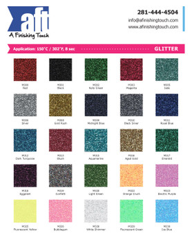 HTV - Glitters - By the Yard - Price Breaks at 10/25/50 yds.