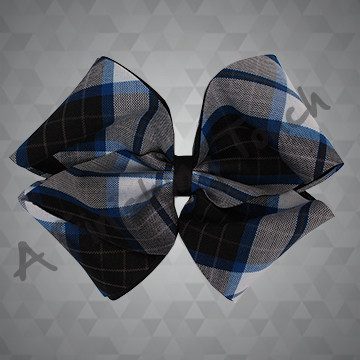 1405 - Large Plaid 4-Loop Bow