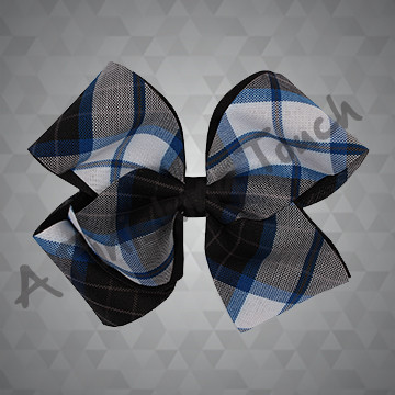 1406 - Medium Plaid 4-Loop Bow