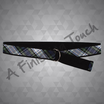 FT125 - Adjustable Plaid Belt
