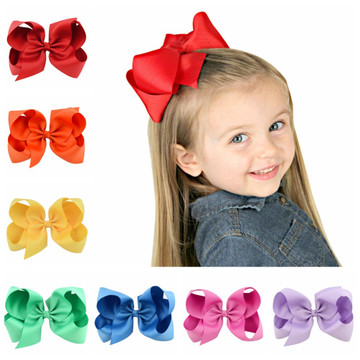 "1588 - 6"" Fluffy Bow on Alligator Clip"