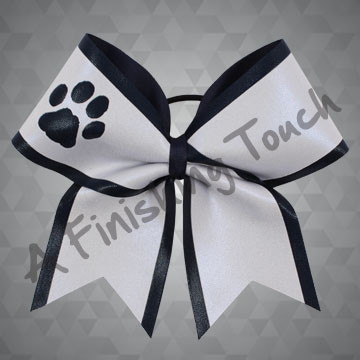 161- Large Two-Layer Cheer Bow with Short Tails / Cut-Out Shape