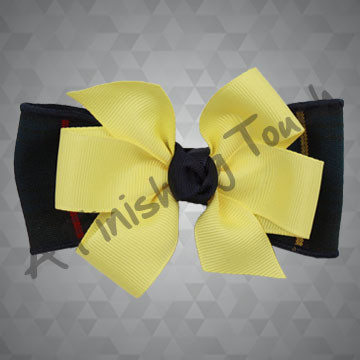 202- Small Plaid Bow w/Ribbon Accent
