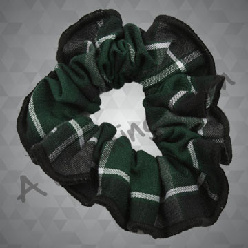 212- Plaid or Solid Scrunchie w/Trim
