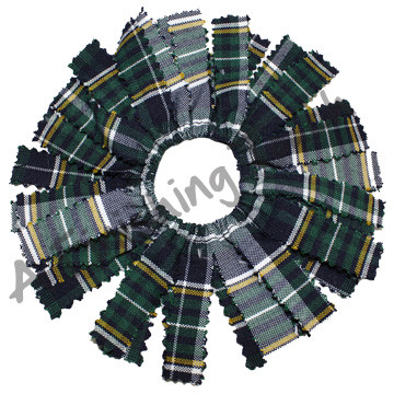 214- Plaid or Solid Pom Pom Scrunchie