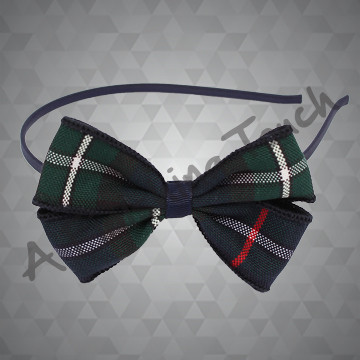 218- Small Headband w/Plaid Bow