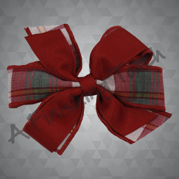 253- Small Plaid/Ribbon Bow