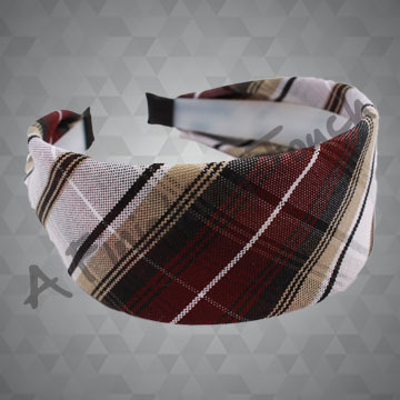 273- Plaid or Solid Fabric on Hard Headband
