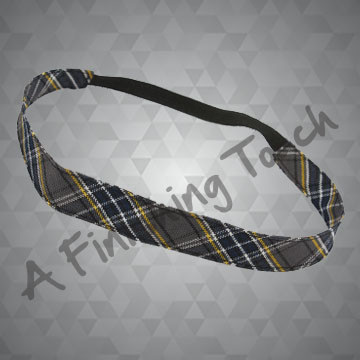 321- Plaid or Solid Narrow Soft Headband
