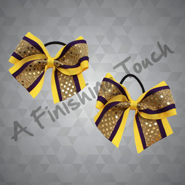 481PT- Three-Layer Two-Loop Pigtail Bows w/Tails