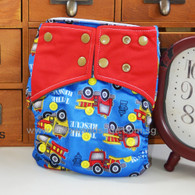 Willow & Sage Bamboo Charcoal Cloth Diaper - Fire Engine